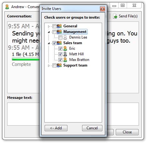 LAN chat rooms